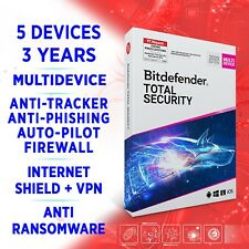 Bitdefender Total Security 2021 Multidevice 5 devices 3 years, FULL EDITION +VPN