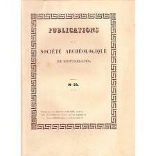 Société ARCHÉOLOGIQUE Montpellier Inquisition à Carcassonne et Arts 1856 T4 N°24