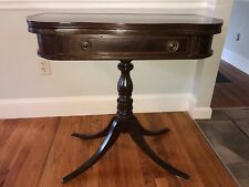 Antique  mahogany game table swivel open and mirror
