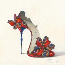 Inna Panasenko: Sketches of Love V Fertig-Bild 30x30 Wandbild High Heel Kult