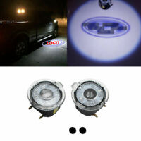 1 Set White LED Rear View Side Mirror Puddle Lights For Ford Focus 15-18 Escape