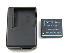 Charger DE-A60 and Battery DMW-BCF10 for Panasonic LUMIX DMC-F2 DMC-F3 DMC-FH1