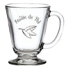 La Rochère  Feuille de thé | Mug 27cl en verre pressé - Lot de 6