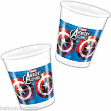 8 Marvel's AVENGERS HEROES Children's Party Disposable 200ml Plastic Cups