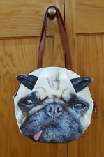 Pug Tongue Out Dog Purse Shoulder Bag