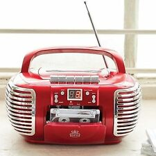 ProTelX GPO CD Radio Cassette Player Pcd299 Red