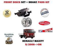 FOR RENAULT MAXITY 2.5 3.0 DT TRUCK 2006-> FRONT BRAKE DISCS SET + DISC PADS KIT