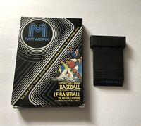 Super Challenge Baseball Atari 2600 Cart & Box TESTED M Network 1982 Mattel