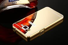 Luxury 24K Aluminum Bumper Frame Mirror Back Case Cover Skin For Samsung iPhone