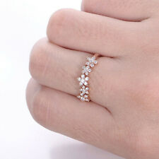 Rose Gold Size 5 6 7 8 9 0.41 Ct Real Diamond Eternity Women's Wedding Band 14K