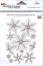 Heartfelt Creations rubber stamp set Christmas Poinsettia Discontinued