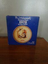 "Goebel M.J. Hummel Annual Plate 1978 in Bas Relief 7-1/2"""