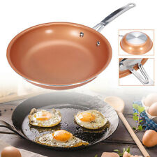 9.5'' Non-stick Copper Steel Round Frying Pan Ceramic Coating Induction Cooking