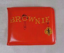 Vintage Girl Scouts Brownies Orange Padded Vinyl Wallet