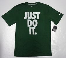 Nike Tee Green with Big White logo Just Do IT Short sleeves crew-neck Size Large