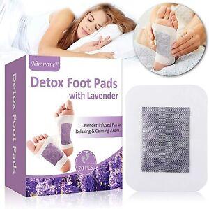 20 x Cerotti detox con applicazione ai piedi, Elimina tossine e metalli pesanti