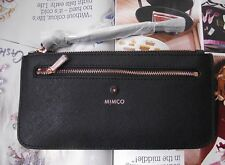 Mimco black Supermicra micra currency pouch