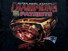 Vintage N.E. PATRIOTS Super Bowl XXXVIII Champions Ring Cotton T Shirt Size L