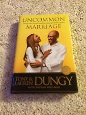 Tony and Lauren Dungy Uncommon Marriage signed book COA Colts 2014 nfl
