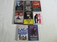 Lot of 8 Movie Soundtrack Cassettes Saturday Night Fever Top Gun Big Chill MORE