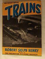 ***VINTAGE 1947 TRAINS MID-CENTURY EDITION HC/DJ BOOK***