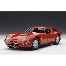 AUTOart 1:18 Scale 1965 ALFA ROMEO TZ2 Red Car Model Collection NEW IN BOX