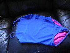 XHILARATION Sz 10/12 Girl One Piece  Bathing Swim Suit Swimwear  Blue & Pink