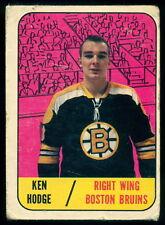 1967-68 TOPPS HOCKEY #98 KEN HODGE VG BOSTON BRUINS Card