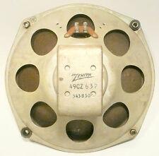 """vintage ZENITH 9E21 TUBE RADIO: Tested/Working 9 & 1/2"""" MAGNET SPEAKER"""