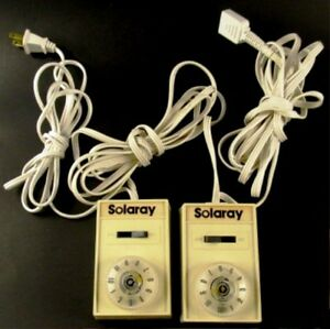 Solaray Dual Electric Blanket Controls 120 Volts PN 16908-014  Vintage Tested