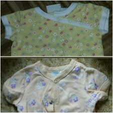 Lot of 2 newborn/0-3 months yellow floral one pieces. Circo, basic editions