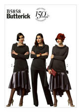 Butterick Sewing Pattern SZ14-22 Misses' Easy Top, Skirt Shaped Hem Pants  B5858