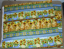 SPX Fabrics ~ Sunny Blossoms Sunflowers ~ Stripes ~ 100% Cotton Quilt Fabric 39""