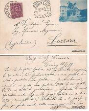 # TORINO: fotocart. privata- 1899 VIAGG PER LUZZARA -foto indaco..