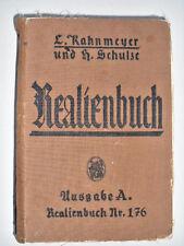 antikes Buch Realienbuch Nr. 176 Ausgabe A. Provinz Sachsen Naturlehre 1941