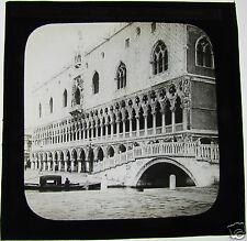 Glass Magic lantern slide VENICE ITALY THE DOGES PALACE C1890 VENEZIA