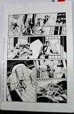 NINJAK #7 PG. #12 1997 ORIGINAL ART BY NEIL VOKES & MICHAEL AVON OEMING-ACCLAIM