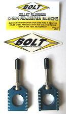 Bolt Chain Adjusters Axle Blocks Yamaha Blue YZ 125 250 YZ125 YZ250 2002 - 2018