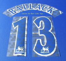 Lextra 97-06 Chelsea Michael Ballack 13 EPL Player Issue Shirt Name Number Set