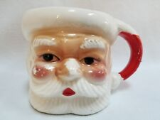 Vintage Ceramic Christmas Santa Claus Coffee Mug Tea Cup Red and White Japan