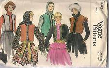 Vogue Sewing Pattern 9672, National Dance Costume, Jacket, Vest,  8- 10, OOP