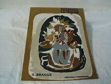 DERRIERE LE MIROIR N° 166 - JUIN 1967 -  GEORGES BRAQUE