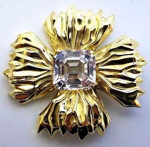 18kt 16ct Royal Medallion Brooch Pin Flaming Celtic Cross Vintage Prime+