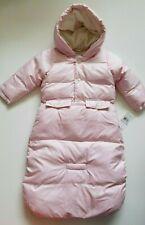 Ralph Lauren Girls Convertible Snowsuit Jacket Bunting Pink Size 9 Months NWT