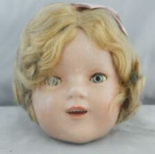 Vintage Shirley Temple Composition Doll Head With Eyes That Open and Shut