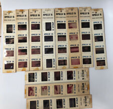 Vintage Apollo 16 NASA Space Color Slides - 11 Sleeves , 44 total slides