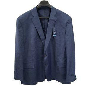 NEW Stafford Big & Tall 60 Regular Mens Sport Coat Comfort Stretch Blue Gingham