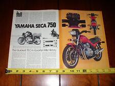 1981 YAMAHA SECA 750 - ORIGINAL ARTICLE