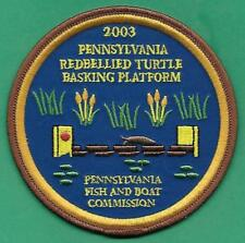 "Pa Pennsylvania Fish Game Commission NEW 4"" 2003 Turtle Basking Platform Patch"