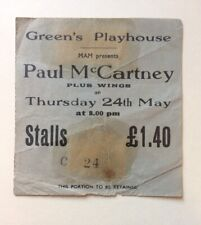 Beatles Paul McCartney Wings 1973 Concert Ticket Glasgow U.K. Rare